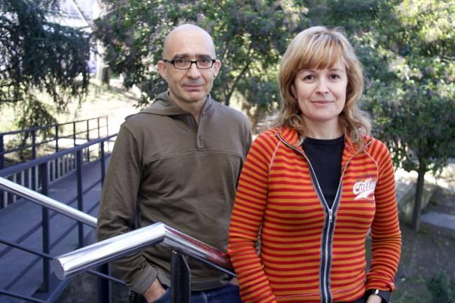 Antonio Villaverde y Esther Vázquez en la UAB