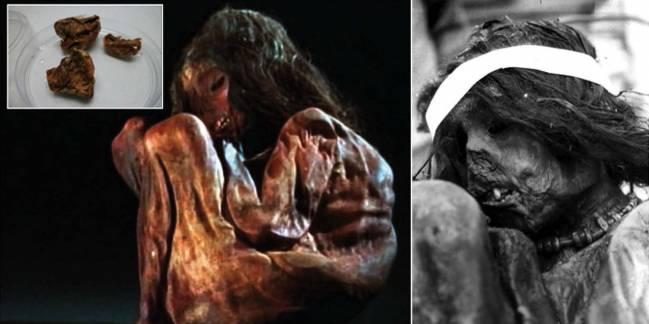 Detalle de la momia encontrada en 1985