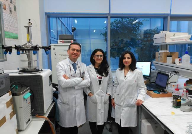El equipo de esta investigación de la UJA con Ruperto Bermejo, Mª Carmen Murillo y Marina García.