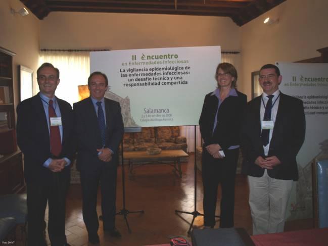 De izquierda a derecha, Juan José Picazo, Javier Castrodeza, Chris van Beneden y Robert George.