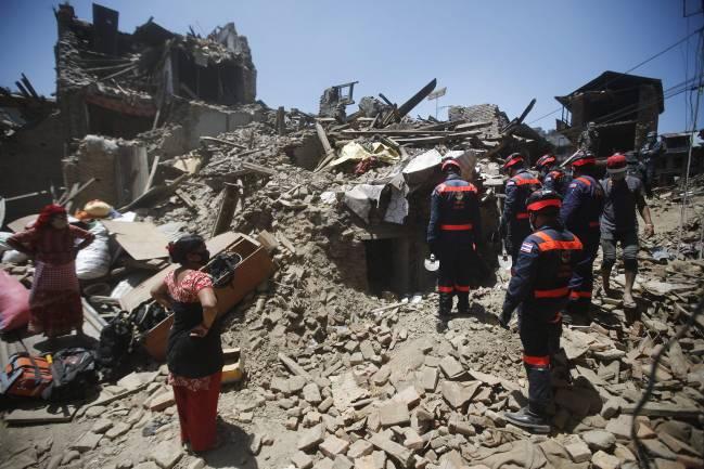 Imagen del terremoto de Nepal en 2015. /  Efe