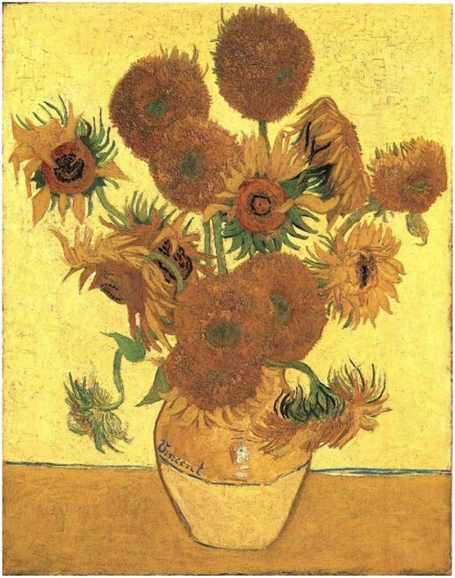 """Jarrón con quince girasoles"" de Vincent van Gogh. Imagen: Steve Dorrington"