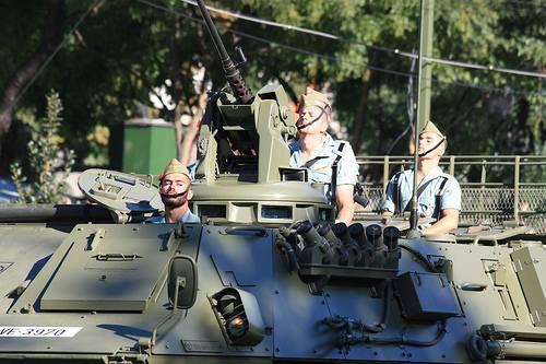 Desfile militar. Foto: Esteban Trigos.