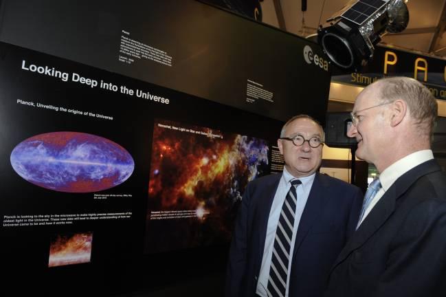 Presentación de resultados de Planck en París. FUENTE: ESA.