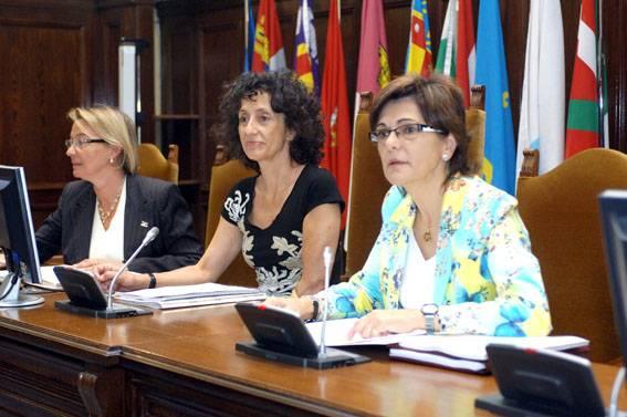 Mercedes Cabrera durante la reunión del Observatorio Estatal de Convivencia Escolar. Foto: MEPSYD.