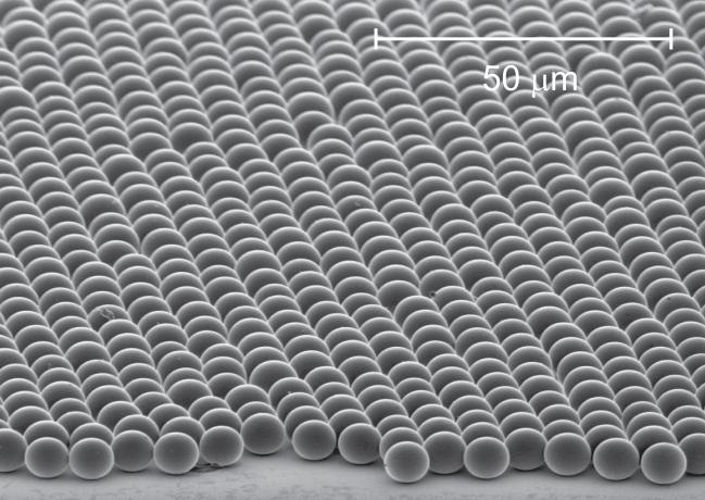 microesferas de sílice