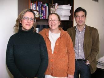 equipo de investigación (de izquierda a derecha): Sonia Casal, Pat Moore y Francisco Lorenzo