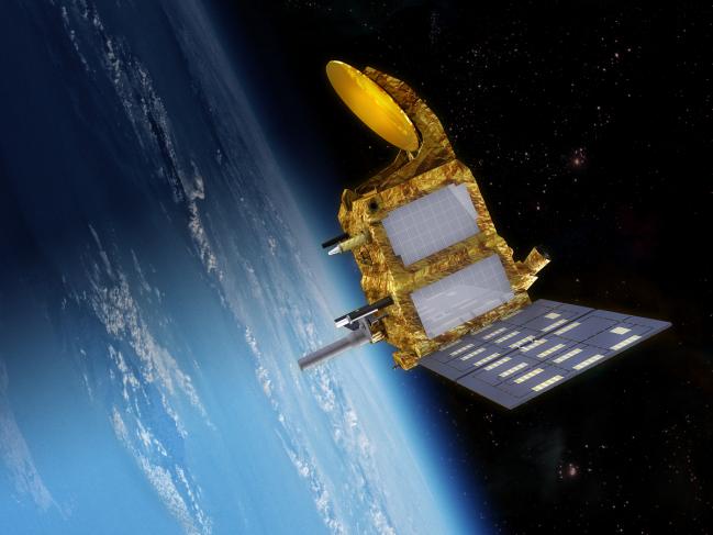 Imagen virtual del satélite SARAL/AltiKa.