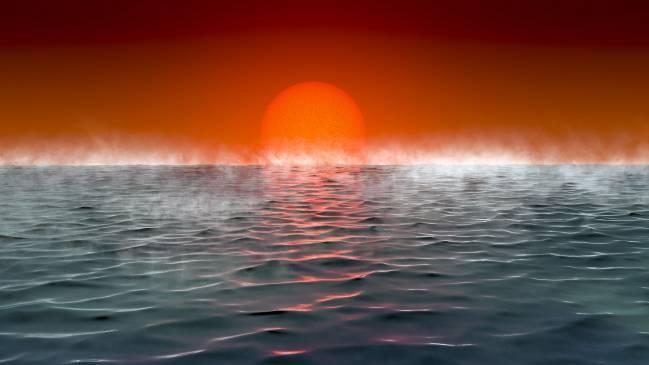 Ilustración de un exoplaneta 'hiceánico'