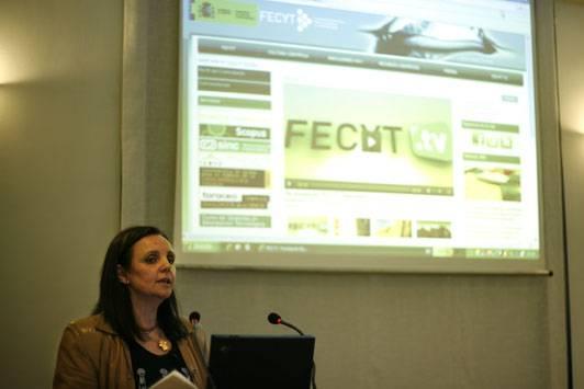 Lourdes Arana en la presentación