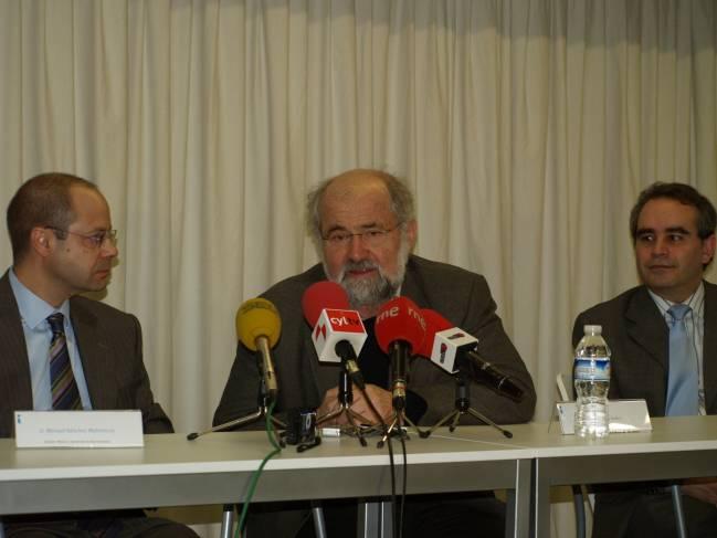 Erwin Neher ha visitado el Instituto de Neurociencias de Castilla y León.