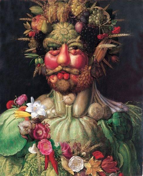 """Retrato de Rodolfo II en traje de Vertumno"""" de Giuseppe Arcimboldo (1590-1591)"""