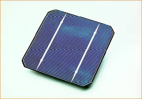 Célula de silicio comercial. Fuente: UPM