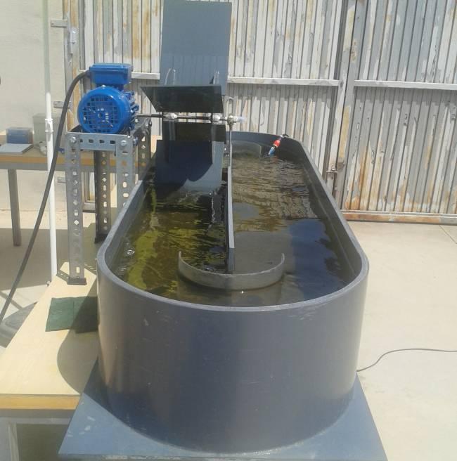 El modelo de reactor raceway o de carrusel utilizado para depurar aguas / Fundación Descubre