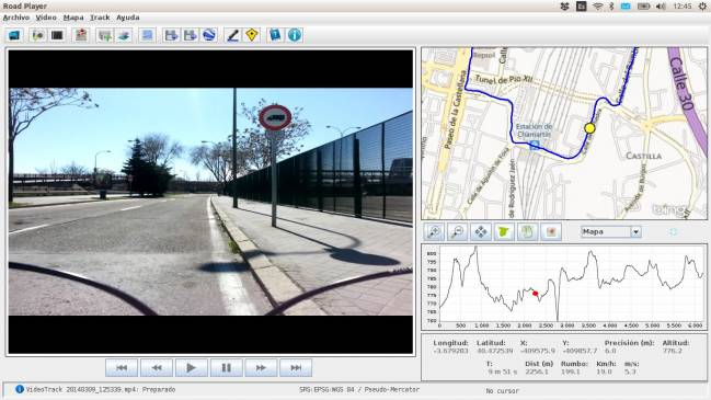 RoadPlayer: aplicación que permite la reproducción de los vídeos georreferenciados grabados con RoadRecorder