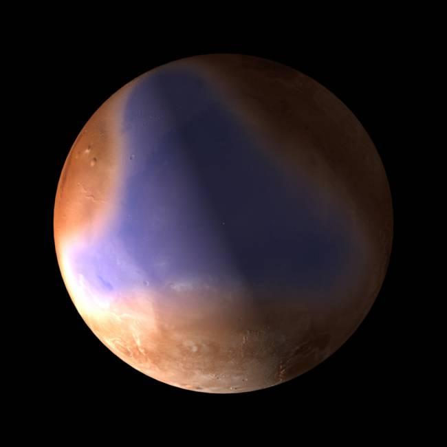 Antiguo océano en el norte de Marte