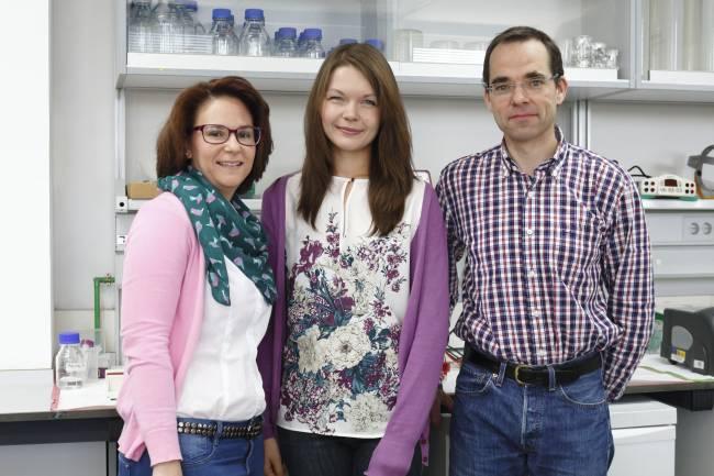 En la foto, de izq. a dcha., Cristina Ayuso, Agnieszka Dobrzynska y Peter Askjaer.