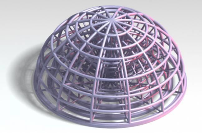 Geometría compleja obtenida por litografía aditiva de slurries cerámicas.