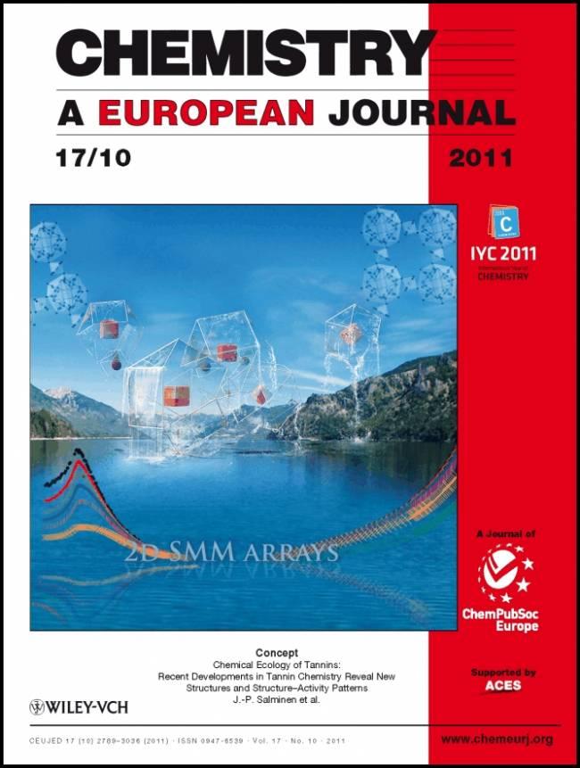 Portada de la revista Chemistry: A European Journal.