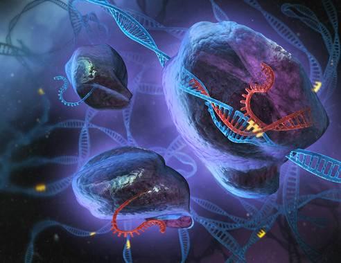 Ilustración artística de CRISPR