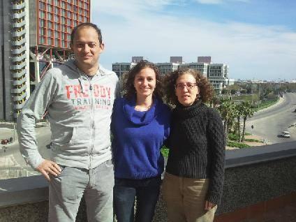 Los investigadores Raúl Estévez, Sònia Sirisi y Virginia Nunes.