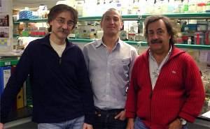De izq. a dcha: los doctores Enrich, Lu y Bach