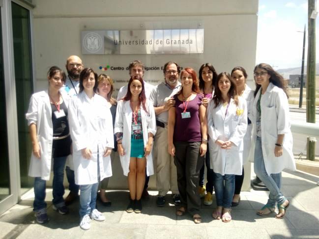 Parte del grupo de investigación de la Universidad de Granada que ha participado en este trabajo
