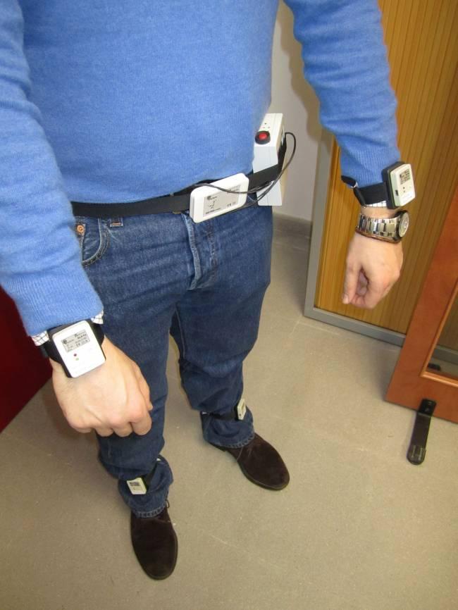 Imagen del prototipo de la red de sensores utilizados durante las pruebas del proyecto PERFORM