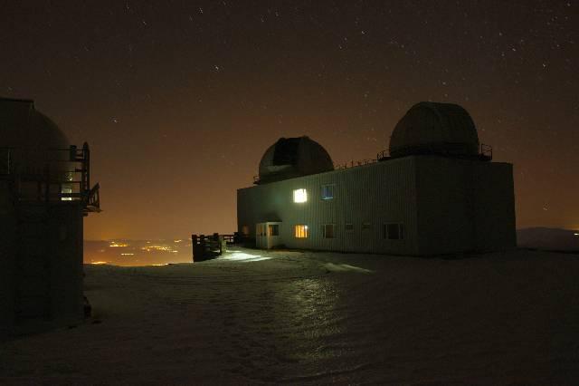 Imagen de contaminación lumínica en la ciudad de Granada, tomada desde el Observatorio de Sierra Nevada. (PRENSA UGR)