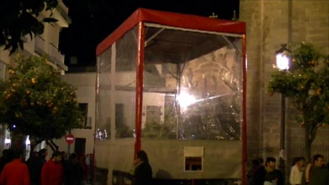 sistema de protección creado por la empresa durante la prueba realizada en Jerez de la Frontera