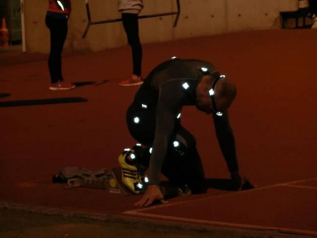 Atleta durante las pruebas de UCOtrack