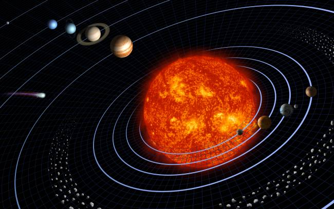 Representación del sistema solar. / NASA
