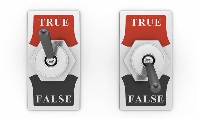 Interructores con las opciones de True o False