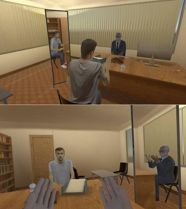 imágenes de la realidad virtual utilizada