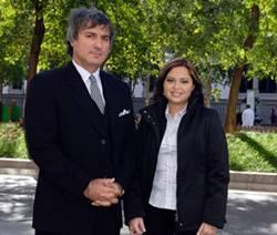 El Dr. Macchiarini y la Sra. Claudia Castillo
