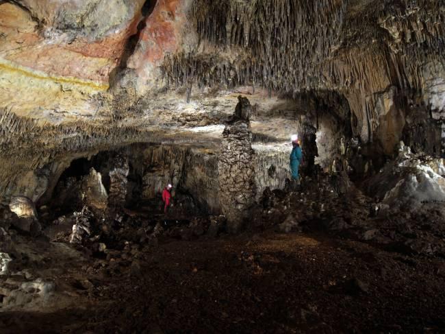 Interior de la Cueva de las Estatuas