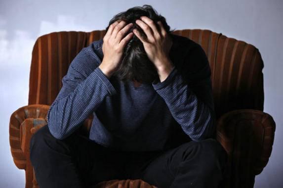 chico con depresión