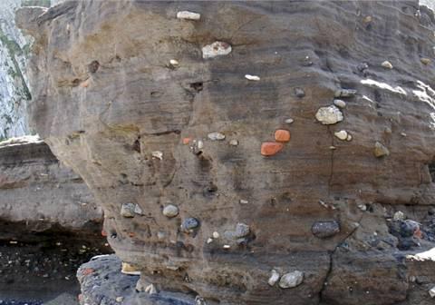 Formación de arena cementada situada en Tunelboka.