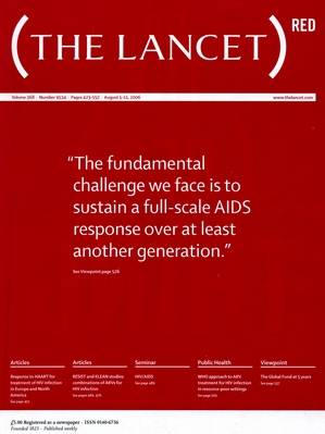 Portada de la revista 'The Lancet'.