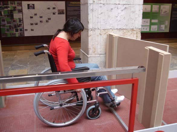 Imagen de la exposición 'Tarragona Accesible', organizada por la Cátedra de Accesibilidad.