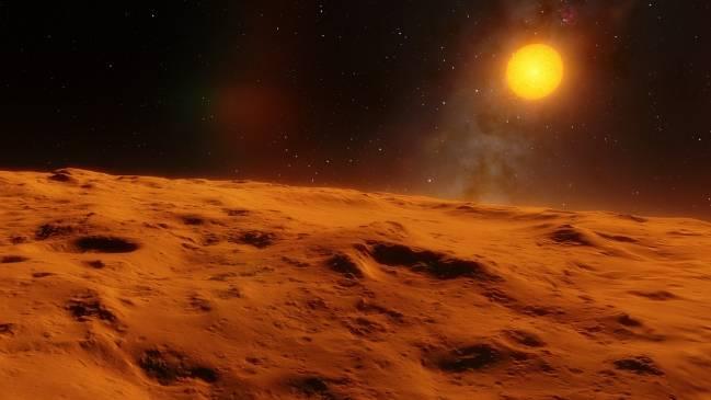 Imagen de un exoplaneta.