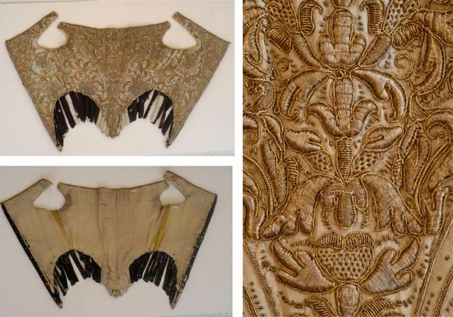 La prenda perteneció a una dama de las cortes europeas del siglo XVII. Imagen: Museo del Traje.