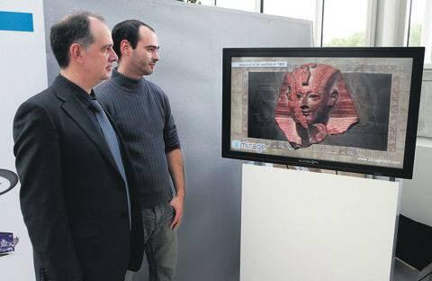 El sistema permite exhibir reconstrucciones virtuales de piezas históricas