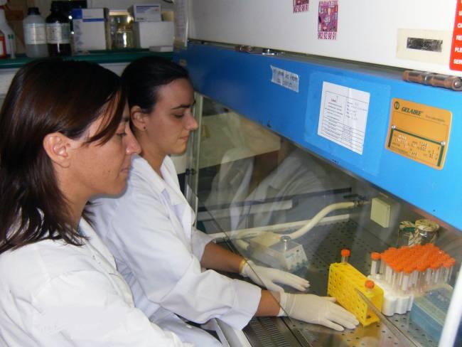 Parte del equipo que trabaja en el área de de Fisiología de la Facultad de Medicina de la UCA