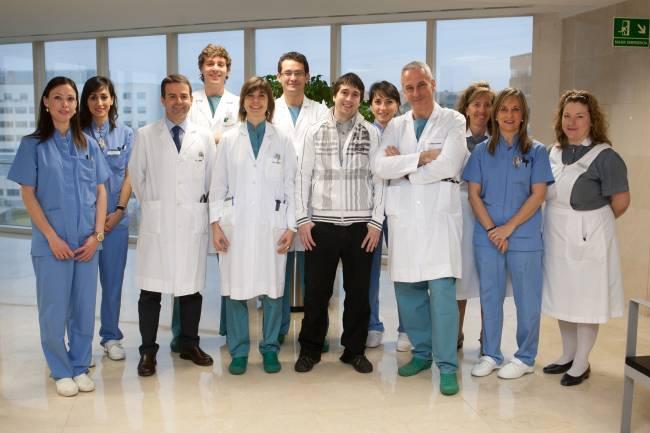 Equipo Arritmias y Cardiología con primer paciente