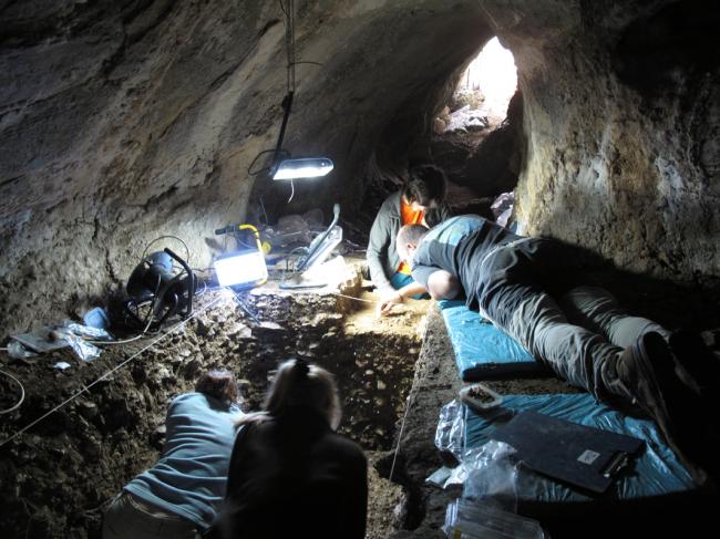 Trabajos de excavación en Arlampe. / Wikipedia