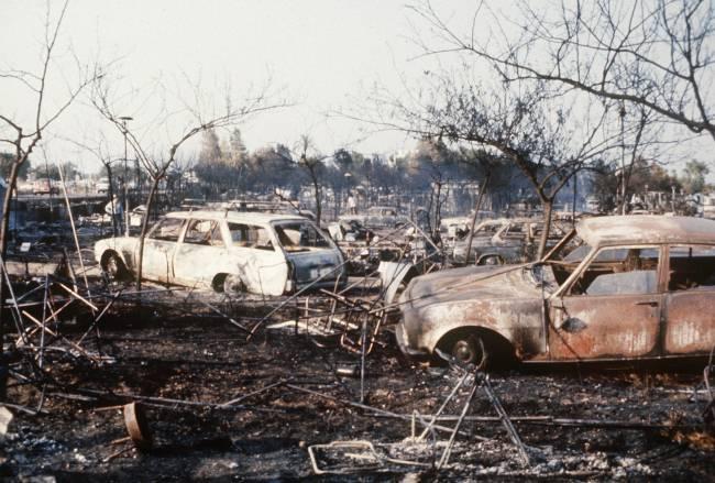 Camping de los Alfaques tras el accidente de julio de 1978. / Efe
