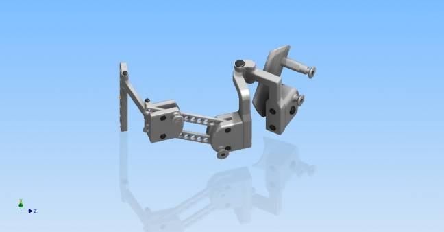 Diseño del exoesqueleto diseñado en el CAR (UPM-CSIC). Fuente: UPM.