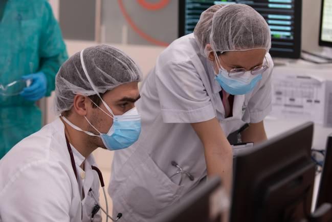 equipo médico durante la pandemia
