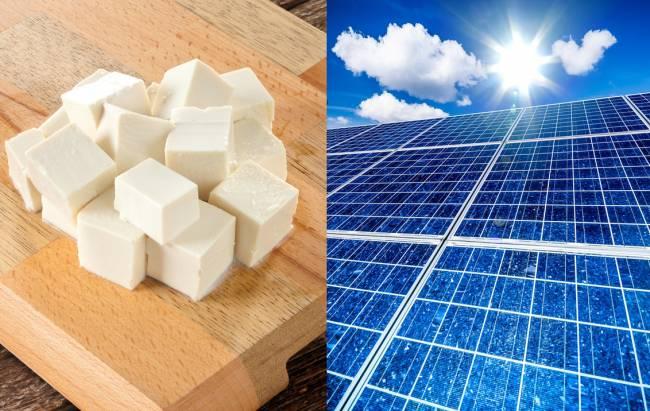 El cloruro de magnesio, presente en el tofu, podría impulsar la energía fotovoltaica. / Fotolia